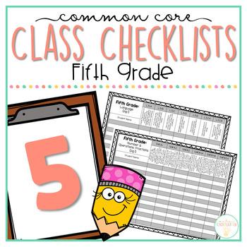 Common Core Checklist: Fifth Grade {EDITABLE}