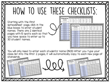 Common Core Checklist: First Grade {EDITABLE}