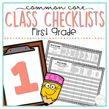 Common Core Class Checklist: First Grade Bundle