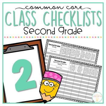 Common Core Class Checklist: Second Grade Bundle