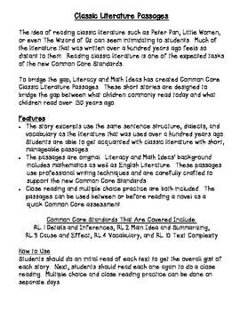 Common Core Classic Literature Passages