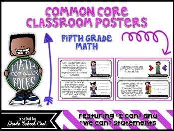Common Core Classroom Posters: Fifth Grade: Math