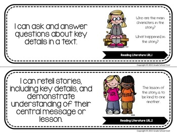 Common Core Classroom Posters: First Grade: ELA