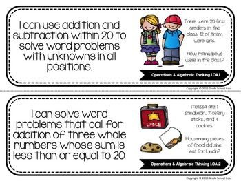 Common Core Classroom Posters: First Grade: Math