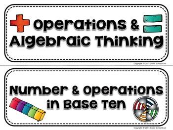 Common Core Classroom Posters: Fourth Grade: Math