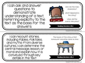 Common Core Classroom Posters: Third Grade: ELA