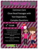 February 6th Common Core Close Read Passages with Complex