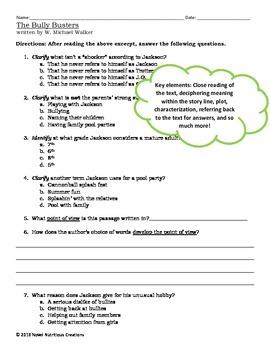 Common Core Close Read/Comprehensive Packet- Free Glimpse 4th-8th grade