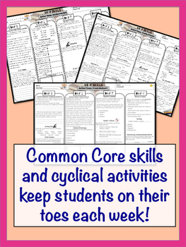 Common Core Close Reading Activities and Assessments Bundle {Middle Grades}