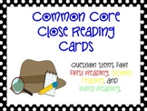Common Core Close Reading Cards