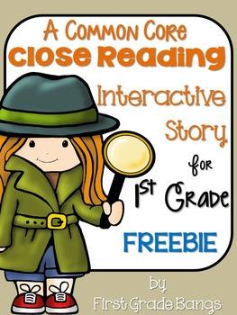 Common Core Close Reading Interactive FREEBIE