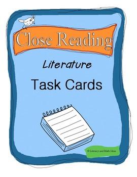 Common Core Close Reading Literature Task Cards