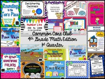 Common Core Club--4th Grade Math Membership