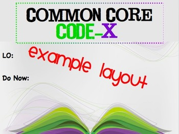Common Core Code-X  Introduction Powerpoint
