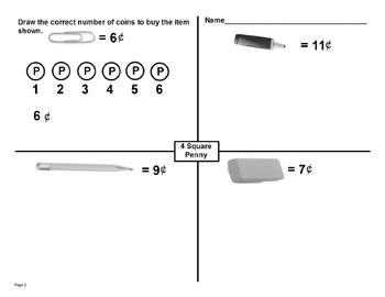 Common Core Coin Counting Using Hundreds Chart