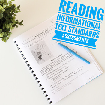 Common Core Cold Read Assessments Informational and Literature Quizzes Grade 5
