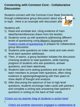 Common Core - Collaborative Discussion about Literature/Info. Text