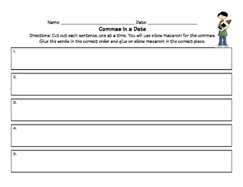 Common Core Comma Sense Activities, Practice Pages, and Test