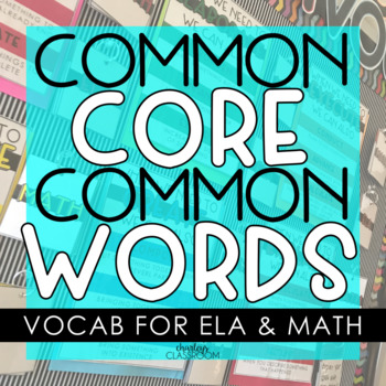 Common Core Common Words - Vocabulary Posters