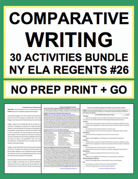 Comparative Writing: Common-Core & NY Regents: Complete Guide (30 activities)
