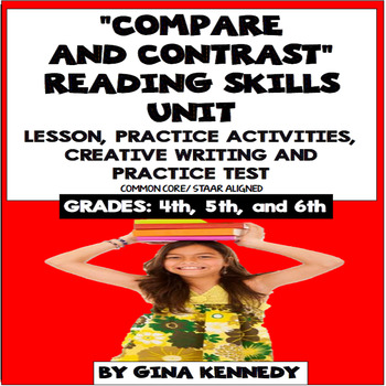 Compare and Contrast Reading Unit: Lesson, Activities, Writing +Practice Test