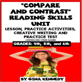Compare and Contrast Lesson, Reading Activities, Writing +Practice Test