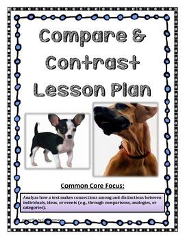 Common Core: Compare and Contrast Lesson Plan