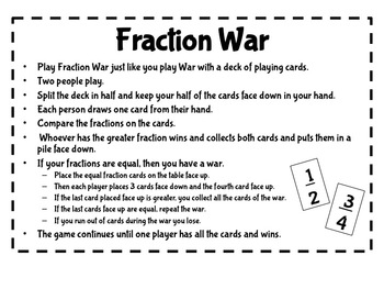 Common Core Comparing Fractions Anchor Chart, Games, Worksheets, and Quizes