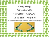Comparing Numbers Alligator Craft  Using Greater Than, Les