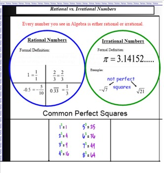 Common Core Complete Expressions Unit - Algebra 1 -