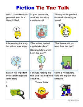 Common Core Comprehension Questions for Fiction and Non Fi