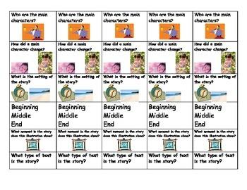 Common Core Comprehension bookmarks
