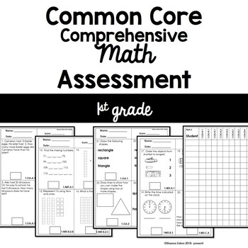 Common Core Comprehensive Math Assessment - 1st Grade