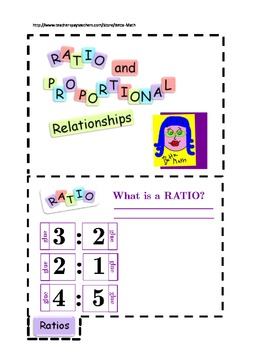 Common Core Concept of Ratios Flipbook