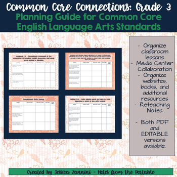 Common Core Connections: Grade 3 ELA Common Core Standards