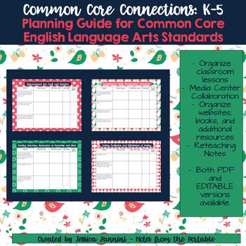 Common Core Connections: Kindergarten ELA Common Core Lesson Guide