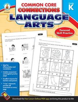 Common Core Connections Language Arts Grade K SALE 20% OFF