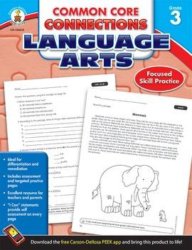 Common Core Connections Language Arts Grade 3 SALE 20% OFF!104610