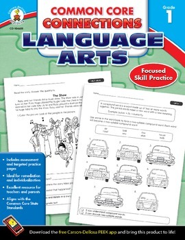 Common Core Connections Language Arts Grade 1 Skill Assessment Sample