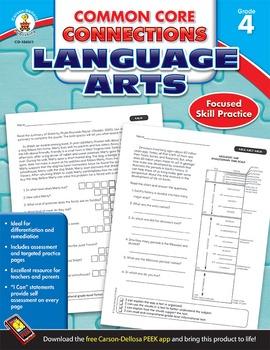 Common Core Connections Language Arts Grade 4 SALE 20% OFF! 104611