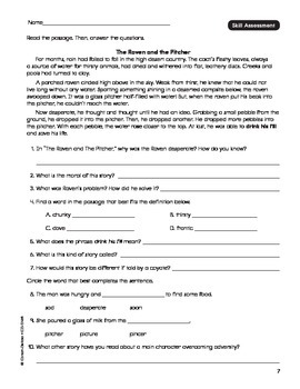 Common Core Connections Language Arts Grade 4 Skill Assessment Sample