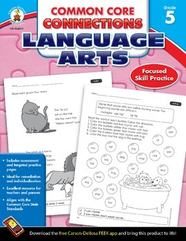 Common Core Connections Language Arts Grade 5 Skill Assessment Sample