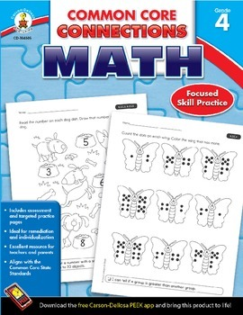 Common Core Connections Math Grade 4 Skill Assessment Sample
