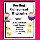 Consonant Digraphs: Phonics Sorting Activity