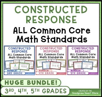 Common Core Constructed Response {MEGA BUNDLE} - 3rd, 4th,