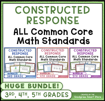 Math Constructed Response Word Problems {MEGA BUNDLE}: 3rd,4th,5th ALL STANDARDS
