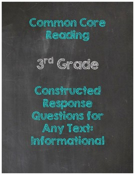 Common Core Constructed Response Questions for Any Text-Informational