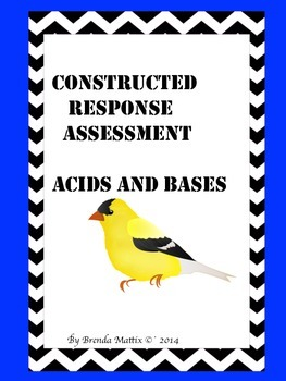 Common Core-Constructed Response:Acids and Bases