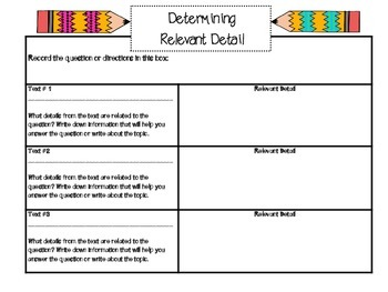 Common Core Constructed/Extended Response Writing Organizer