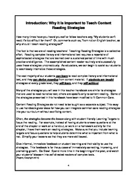 The Basics of Common Core: Content Reading and Assessment Strategies